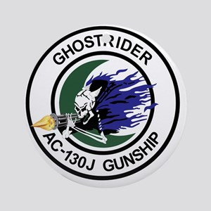 AC-130J Ghostrider Gunship Round Ornament